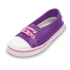 Kids Crocs Crosmesh Hover Skimmer Girls Dahlia/Pink Lemonade Slip Ons