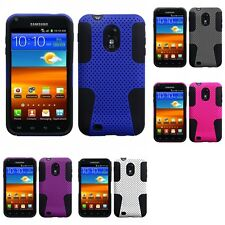 For Samsung Epic Touch 4G D710 Hybrid Rugged Impact Hard Soft Case Phone Cover
