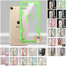 For Apple iPod Touch 5th 6th Gen Hybrid Transparent TUFF Impact Armor Hard Case