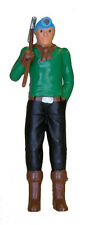 Model Power 7004-1 O-Scale Worker Figure w/ LED Lighted Hard Hat Highly Detailed