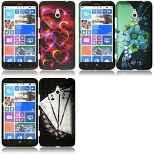 For Nokia Lumia 1320 Snap-On Design Rubberized Hard Case Phone Cover