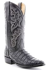 Circle G By Corral Men's Western Boots Econoline Black Caiman Belly Tail BL04016