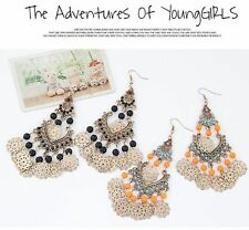 1 Pair Ethnic Style Retro Hollow Earrings Fashion Water Droplets Bohemia Earring