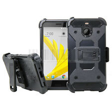 Hybrid Rugged Hard Armor Case Stand Rubber Cover Belt Clip For HTC Bolt/10 EVO