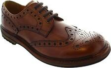 Catesby Cw155 Men's Ant Brown Lace Up Low Heel Leather Wingtip Style Brogues New