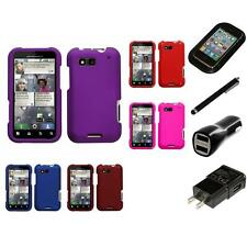 For Motorola Defy MB525 Snap-On Hard Case Phone Skin Cover Accessory Charger