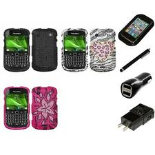 For BlackBerry Bold Touch 9900 9330 Diamond Diamante Bling Case Charger Stylus