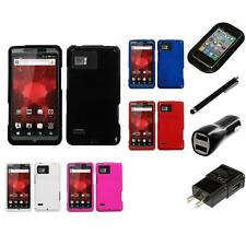For Motorola Droid Bionic XT875 Rigid Plastic Hard Snap-On Case Cover Charger