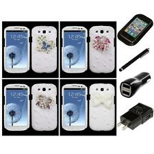 For Samsung Galaxy S3 Diamond Bling Rhinestone Case Phone Cover Charger Stylus