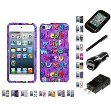 For Apple iPod Touch 5th 6th Gen Design Snap-On Hard Case Phone Cover Charger