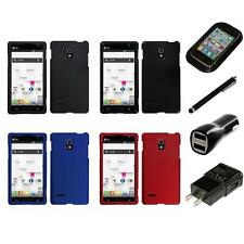 For LG Optimus L9 P769 T-Mobile Snap-On Hard Case Phone Skin Cover Charger