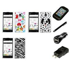 For LG Optimus L9 P769 T-Mobile TPU Design Case Phone Cover Charger Stylus
