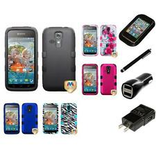 For Kyocera Hydro Vibe Hybrid TUFF IMPACT Phone Case Hard Cover Charger Stylus