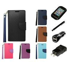 For Alcatel One Touch Pop Astro 5042T Wallet Case Card Pocket Slots Charger