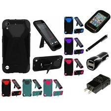 For HTC Desire 530 Hard Soft Rugged Slim-Grip Case Phone Skin Cover Charger