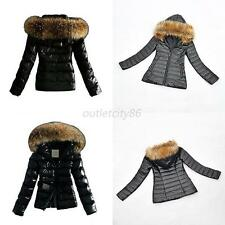 Women Warm Fur Collar Hooded Parka Winter Thick Coat Outerwear Jacket S-3XL