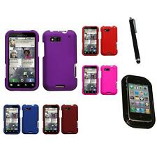 For Motorola Defy MB525 Rigid Plastic Hard Snap-On Case Phone Cover Mount+Pen