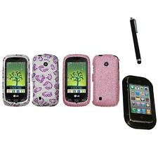 For LG Cosmos Touch VN270 Diamond Diamante Bling Rhinestone Case Mount+Pen