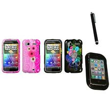 For HTC Sensation 4G Design Snap-On Hard Case Phone Cover Mount+Pen