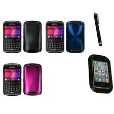 For BlackBerry Curve 9350 9360 9370 Aluminum Armor Cosmo Hard Case Mount+Pen