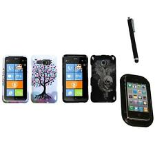 For HTC Titan II Design Snap-On Hard Case Phone Cover Mount+Pen