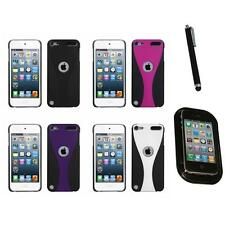 For iPod Touch 5th 6th Gen Snap-On Rear Hard Back Cover Phone Case Mount+Pen