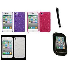 For Apple iPhone 4/4S Diamond Bling Rhinestone Case Phone Cover Mount+Pen