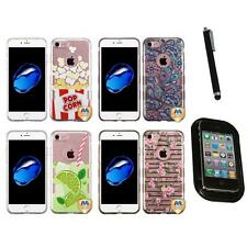 For Apple iPhone 7 [4.7] TPU Hard Case Skin Phone Cover Mount+Pen