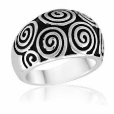 DaVinci Beads Silver Round Swirl Ring - DR104-1 -Brand New - Several Sizes