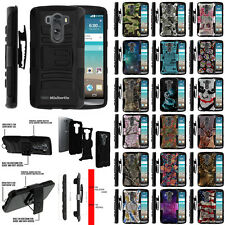 For LG G3 990 (Sprint) Shock Impact Rugged Kickstand Dual Layer Protective Case