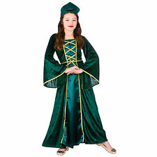 Medieval Tudor Princess World Book Day Halloween Fancy Dress Up Party Costume