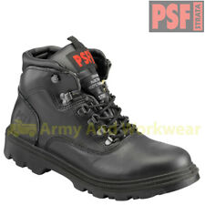 PSF STRATA Mens Leather Waterproof Safety Work Boots Shoes Steel Toe Cap Midsole