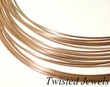 1oz 14K Rose Gold-Filled DS HALF-ROUND Jewelry Wire 2 4 6 8 10 12 GA Gauge
