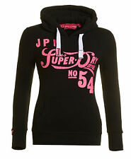 New Womens Superdry Pipso Entry Hoodie Black