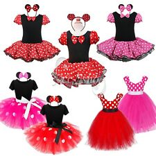 NEW 2PCS Baby Girl Minnie Mouse Romper Tutu Dress Birthday Party Costume Outfits
