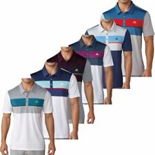 Adidas Golf 2017 Climacool® Chest Block Polo Mens Performance Golf Polo Shirt