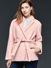 Gap NWT Pink Soft Wool Wrap Belted Coat Jacket XS L XL $168