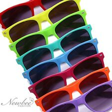 2 Pair of Colorful Retro Vintage Sunglasses Bright Neon Hipster Fixie Many Color