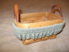 AUTHENTIC LONGABERGER BASKET-1997 Handwoven Basket with Liner and Band
