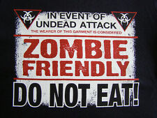 NEW FUNNY ZOMBIE TSHIRT - In case of undead attack Zombie Friendly - DO NOT EAT!