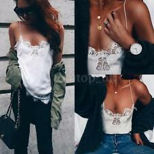 Sexy Women Lace Trim Sleeveless Blouse Casual Tank Tops T-Shirt Vest Top Y9V4