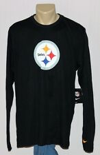 Pittsburgh Steelers Nike Thermal Long Sleeve Shirt Black - NFL Mens