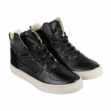 Diesel S-Spaark Mid Mens Black Leather High Top Lace Up Sneakers Shoes