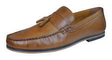 Red Tape Woodcroft Mens Leather Slip On Loafers / Shoes - Tan