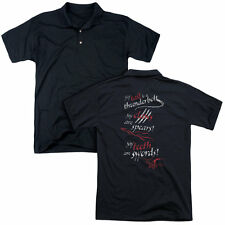 Hobbit/Tail Claws Teeth (Back Print) Mens Regular Fit Polo in Black
