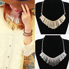 SM Women New Jewelry Pendant Chain Crystal Choker Chunky Statement Bib Necklace