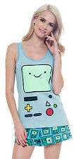 Adventure Time BMO Juniors 2Pc Turquoise Pajama Sleep Set