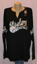Pittsburgh Steelers Womens Plus Size Thermal Long Sleeve Shirt - NFL Plus Sizes