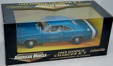 ERTL 1/18 1969 Dodge Charger R/T Blue Metallic Car #32261 SEALED American Muscle