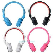 3.5mm Plug Stereo On-ear Headset Headphones with Microphone 1.2m Cable